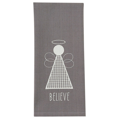 Believe Angel Applique Dish Towel