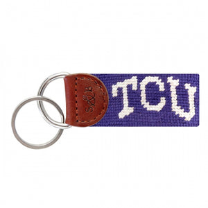 TCU (Purple) Needlepoint Key Fab