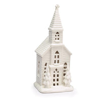 Light Up White Church Decor