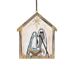 Hand Painted Nativity Scene Ornament