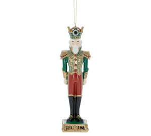 Red and Green Nutcracker Ornament