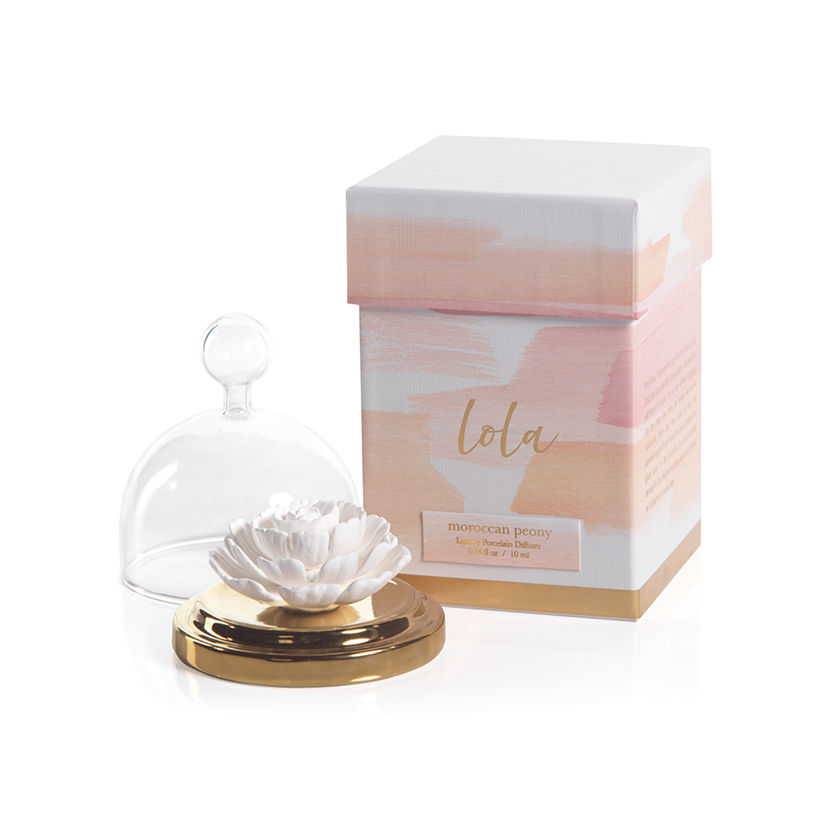 Lola Porcelain Diffuser in Moroccan Peony