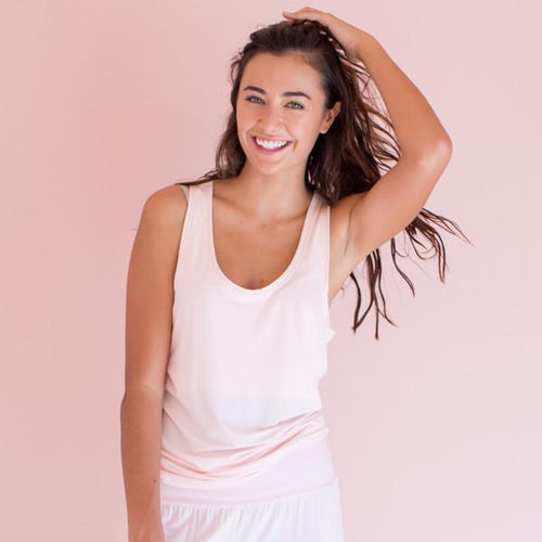 Bamboo Relax Tank - Pink