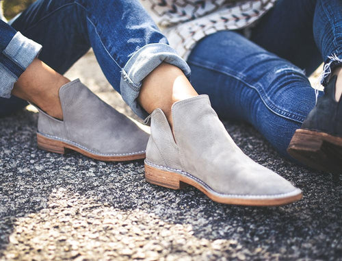 Federal Gray Suede Booties