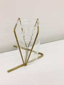 Gold Metal Glass Vase