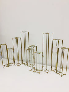 Gold and Glass Vases