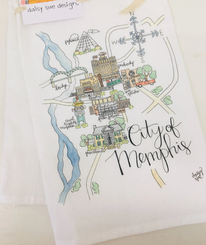 City of Memphis Tea Towel