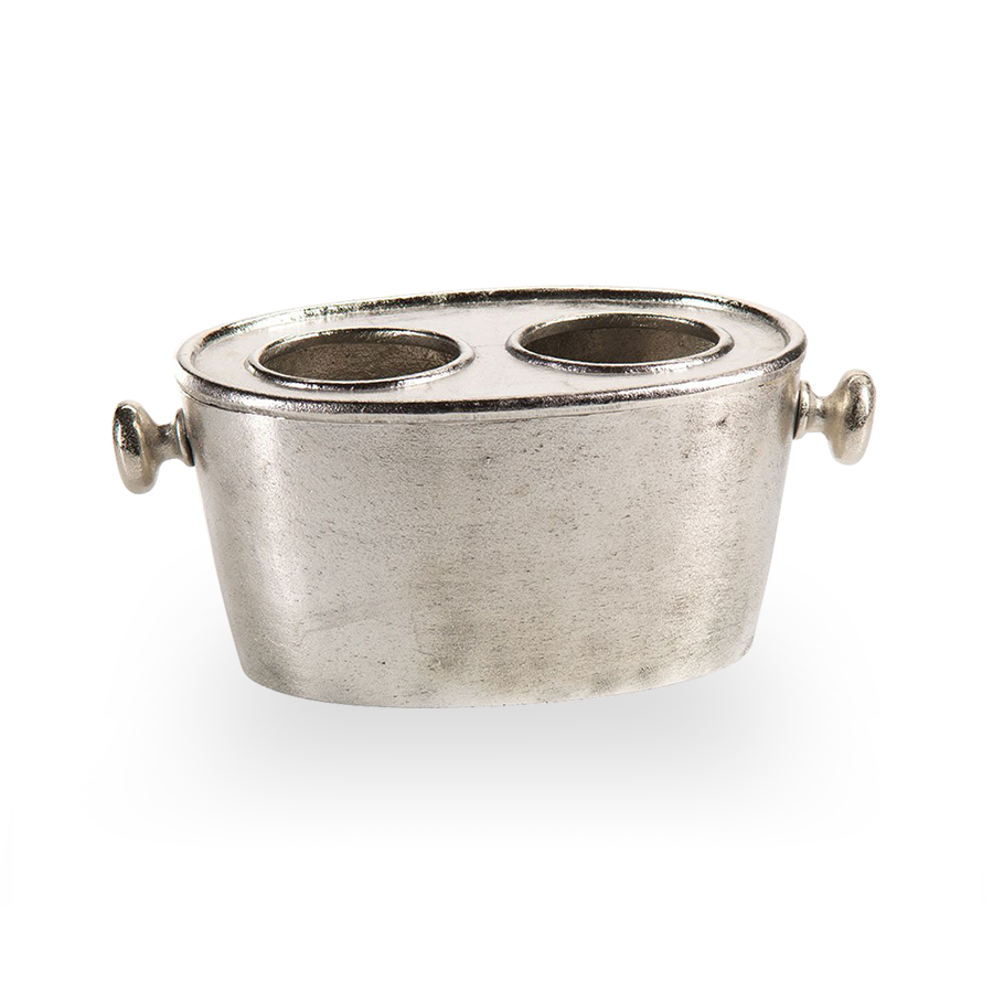 Raw Aluminum Wine Bucket 2 Hole