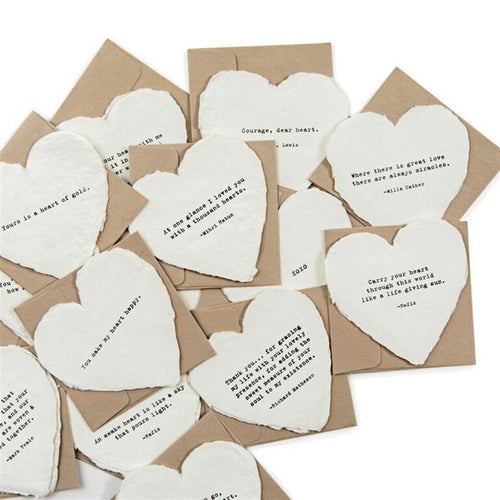 Deckled Heart Cards & Envelopes