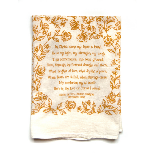 In Christ Alone- Little Things Hymn Tea Towel