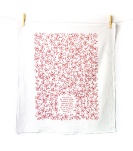 Abide With Me- Little Things Hymn Tea Towel