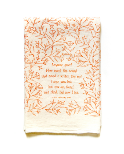 Amazing Grace- Little Things Hymn Tea Towel