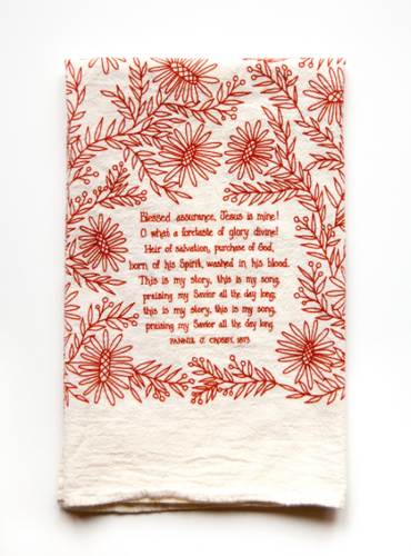 Blessed Assurance- Little Things Hymn Tea Towel