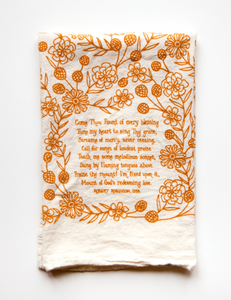 Come Thou Fount- Little Things Hymn Tea Towel
