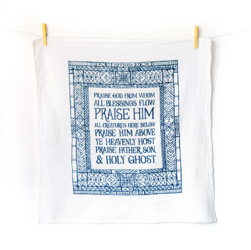 Doxology- Little Things Hymn Tea Towel