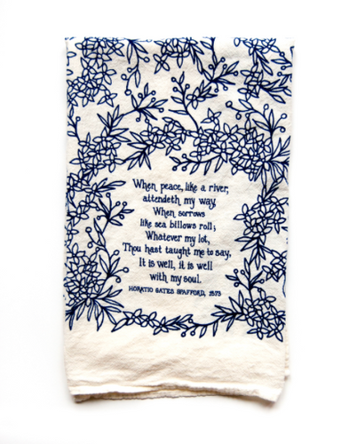 It Is Well- Little Things Hymn Tea Towel