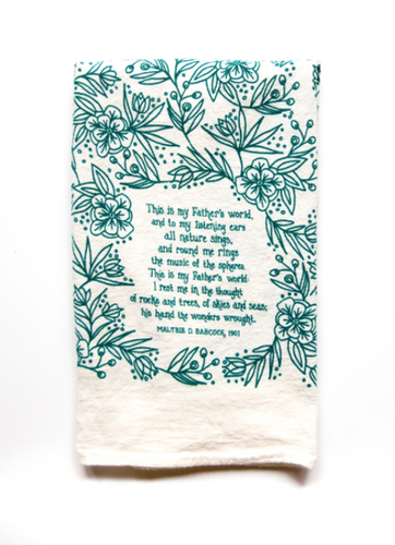 This is my Father's World- Little Things Hymn Tea Towel