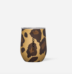 12oz Stemless -  Luxe Leopard