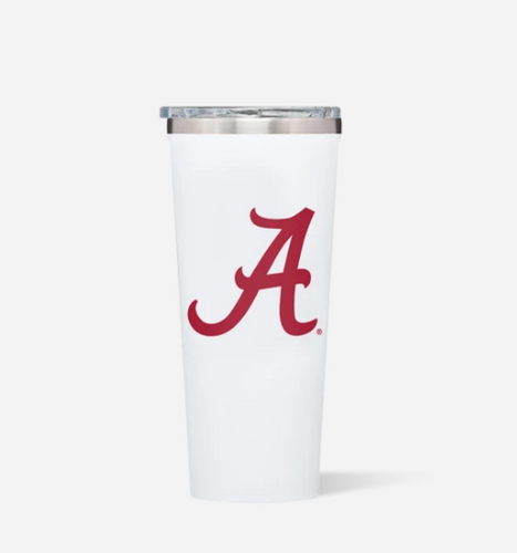 White Gloss 24oz Alabama Tumbler