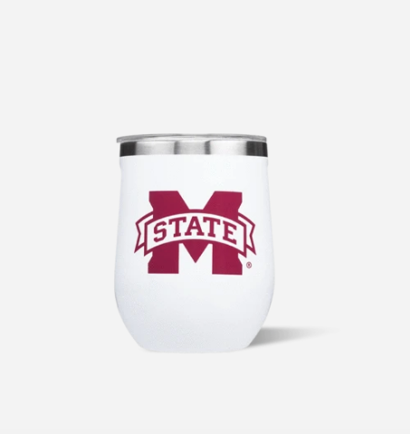 12oz Stemless White Gloss MS State