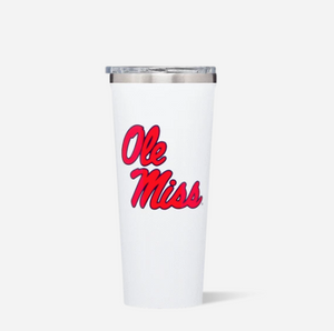 White Gloss 24oz Ole Miss Tumbler