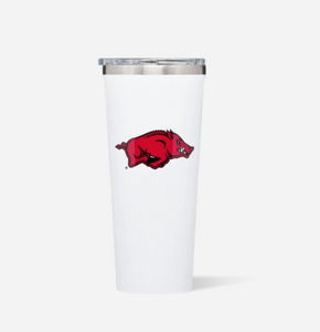 White Gloss 24oz Arkansas Tumbler
