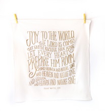 Joy to the World- Little Things Christmas Hymn Tea Towel