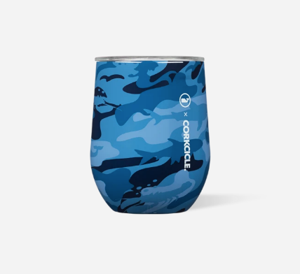 12oz Stemless -  Vinyard Vines Blue Camo