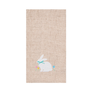 White Bunny Kitchen Towel