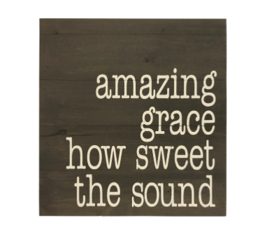 Amazing Grace Wood Wall Art