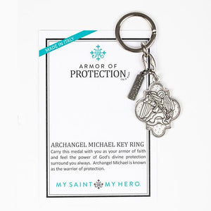 Armour of Protection Archangel Michael Key Ring