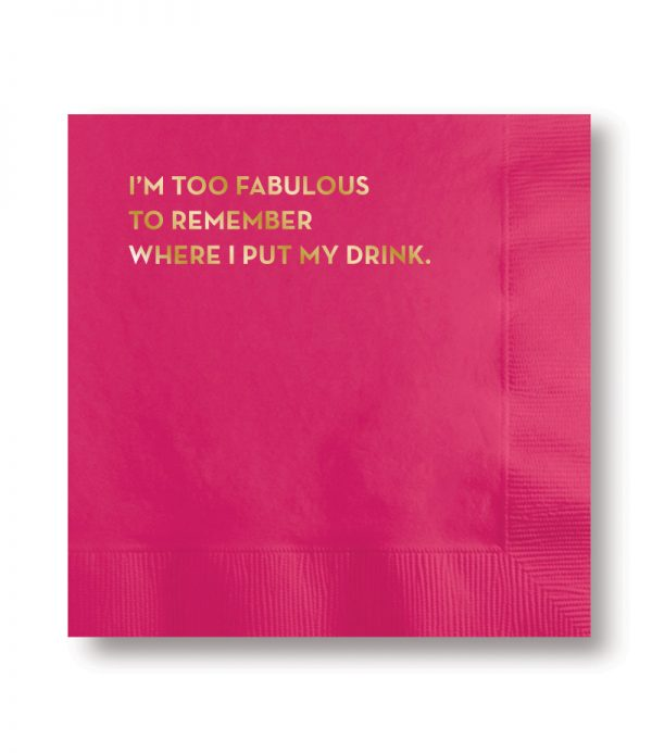 Sapling Press - #582: Fabulous Napkins (Magenta With Gold Foil)
