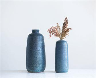 Blue Terra-Cotta Vases