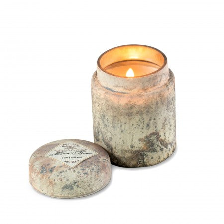 Mountain Fire Glass Candle Honeysuckle