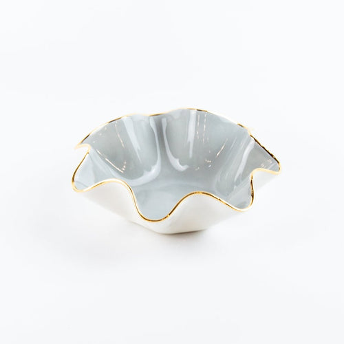 Small Wavy Ceramic Bowl- Size A