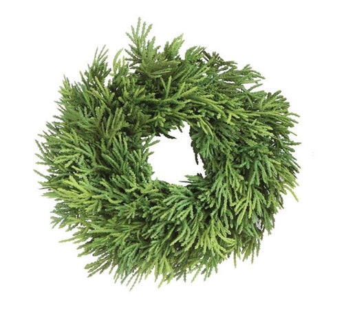 Small Faux Cedar Wreath