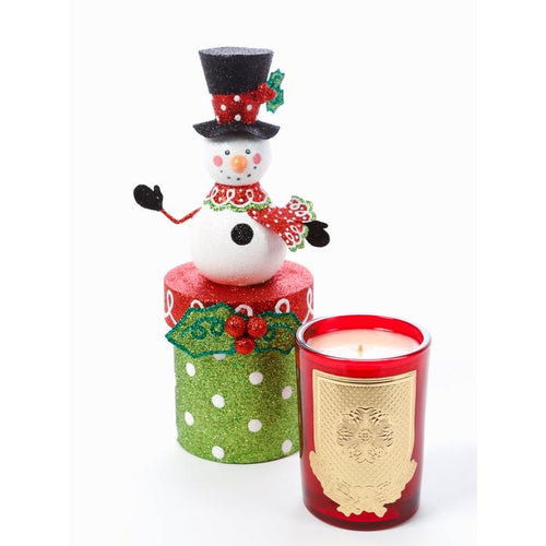 Frosty Whimsical Box Candle - White Christmas