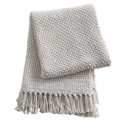 Open Knit Throw Natural