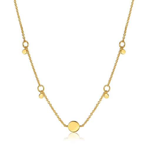 Geometry Drop Disc Necklace