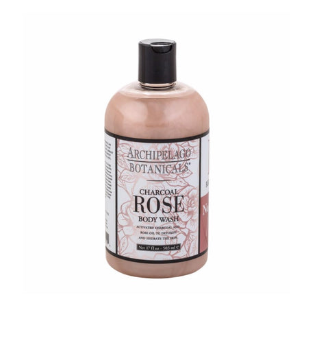 Charcoal Rose Body Wash 17 oz.