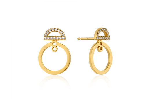 Shimmer Pave Hoop Ear Jackets