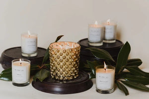 Re + New + All Gold Holiday Candle