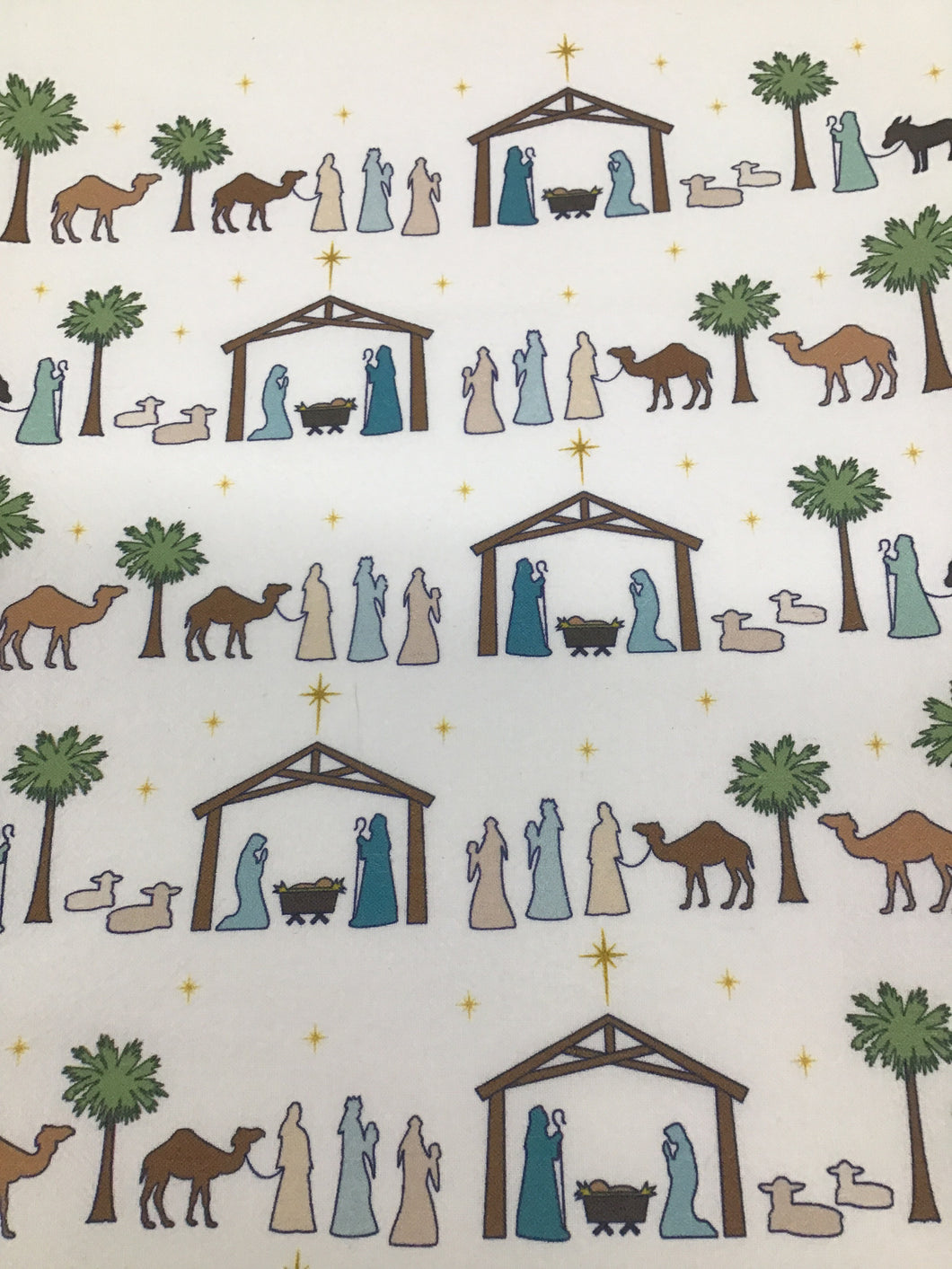 Nativity tea towel