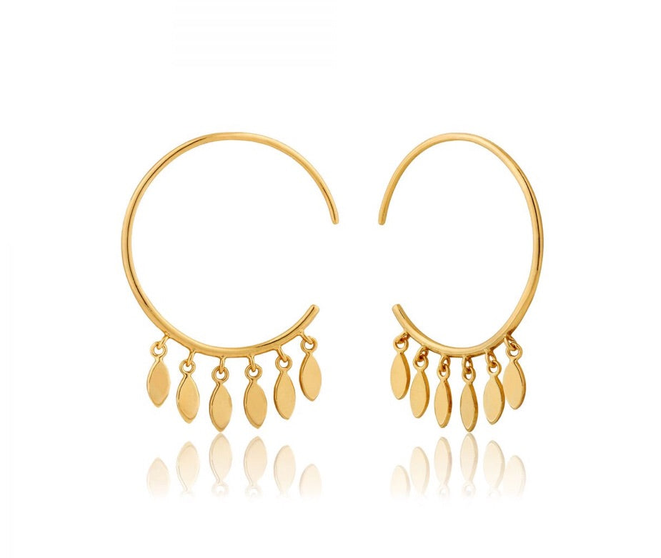 Multi-Drop Hoop Earrings