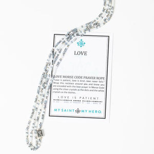 Love Morse Code Prayer Rope