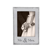 Mr. and Mrs. Vertical Beaded Frame - 5x7