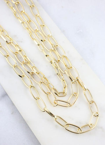 Balfour Metal Link Necklace