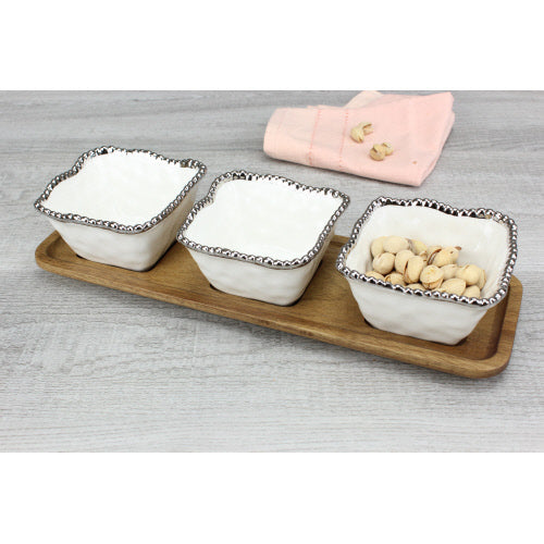 Salerno Entertaining Set- 4 Piece