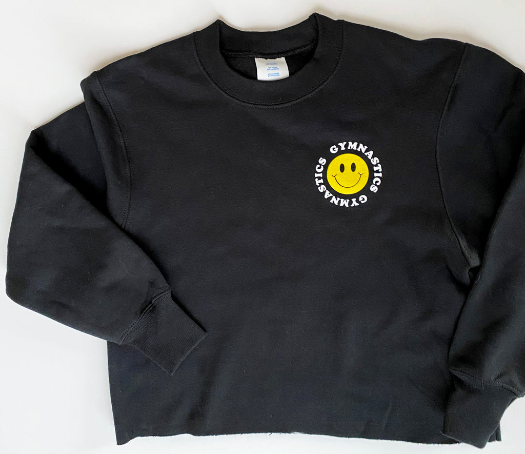 ADULT BLACK SMILEY SWEATSHIRT
