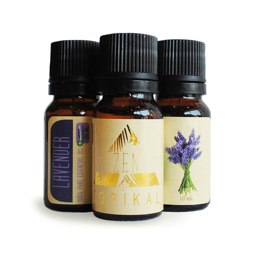 Three 10ml bottles of lavender Topikal Zen CBD Essential Oil with 100mg of CBD.